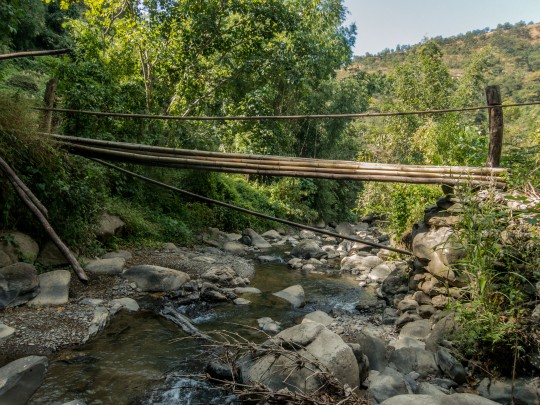 The perilous wooden bridge