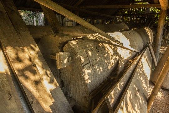 The massive log drum